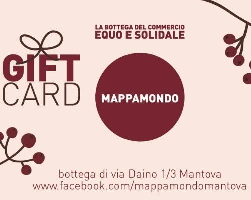 Gift Card del Mappamondo Mantova, per regali equosolidali