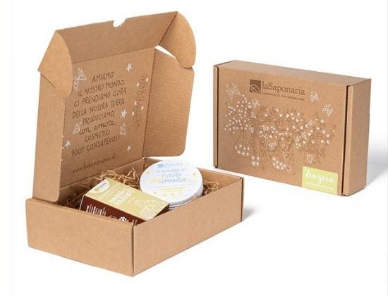 La Saponaria idea regalo corpo biobox allo zenzero